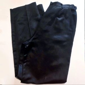 VTG Burberry's silk high rise straight leg pants